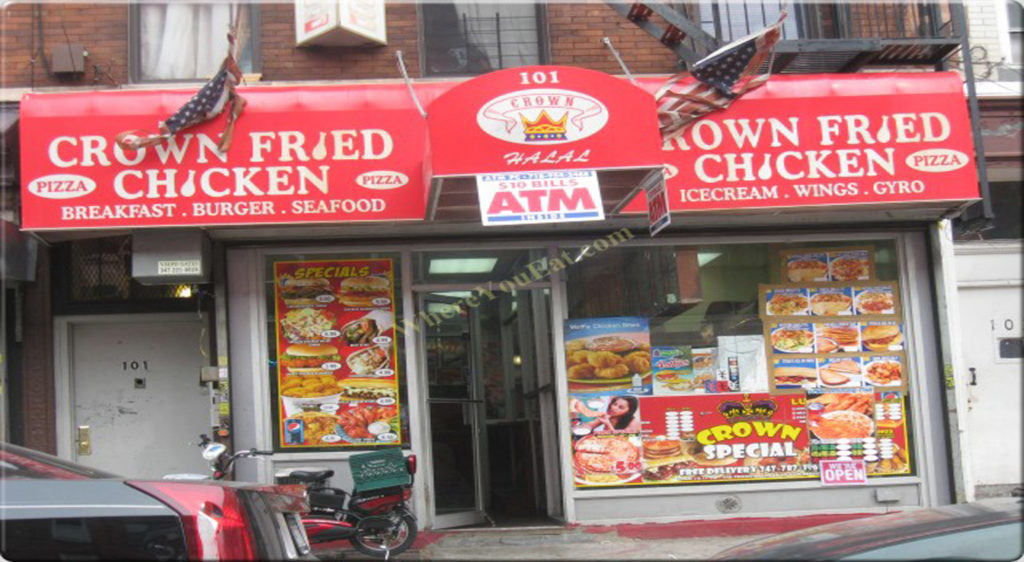 Crown Fried Chicken 190 E 98th St Brooklyn NY 11212 as we assume the food must be healthier